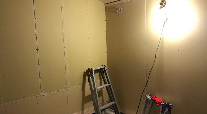 早島町新築工事 壁ボード