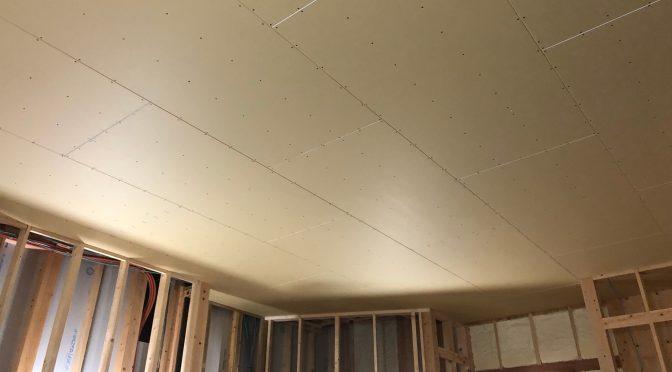 早島町新築工事 天井ボード