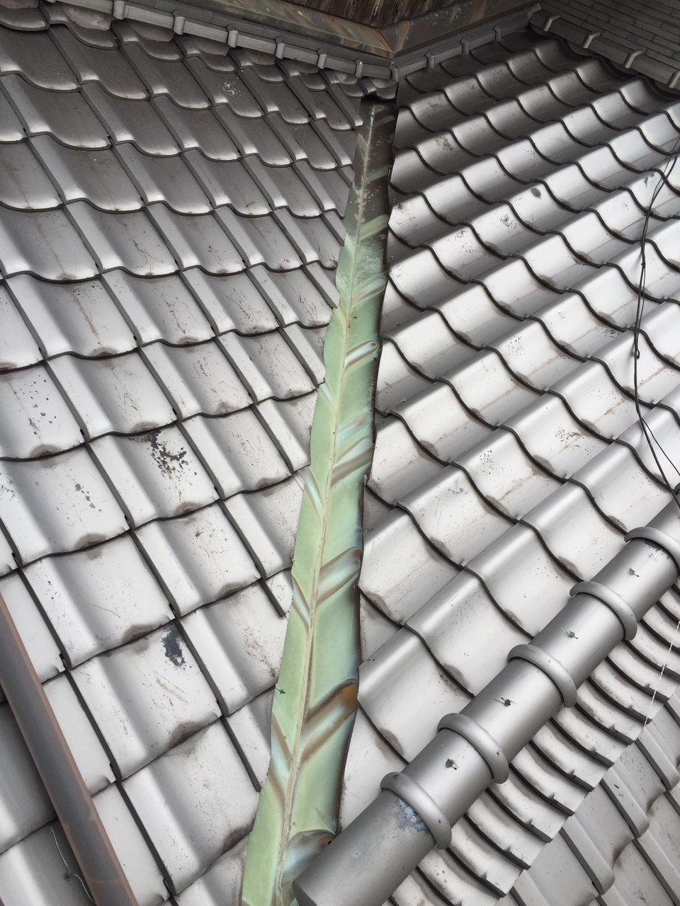 早島町雨漏り補修工事 施工前の写真①