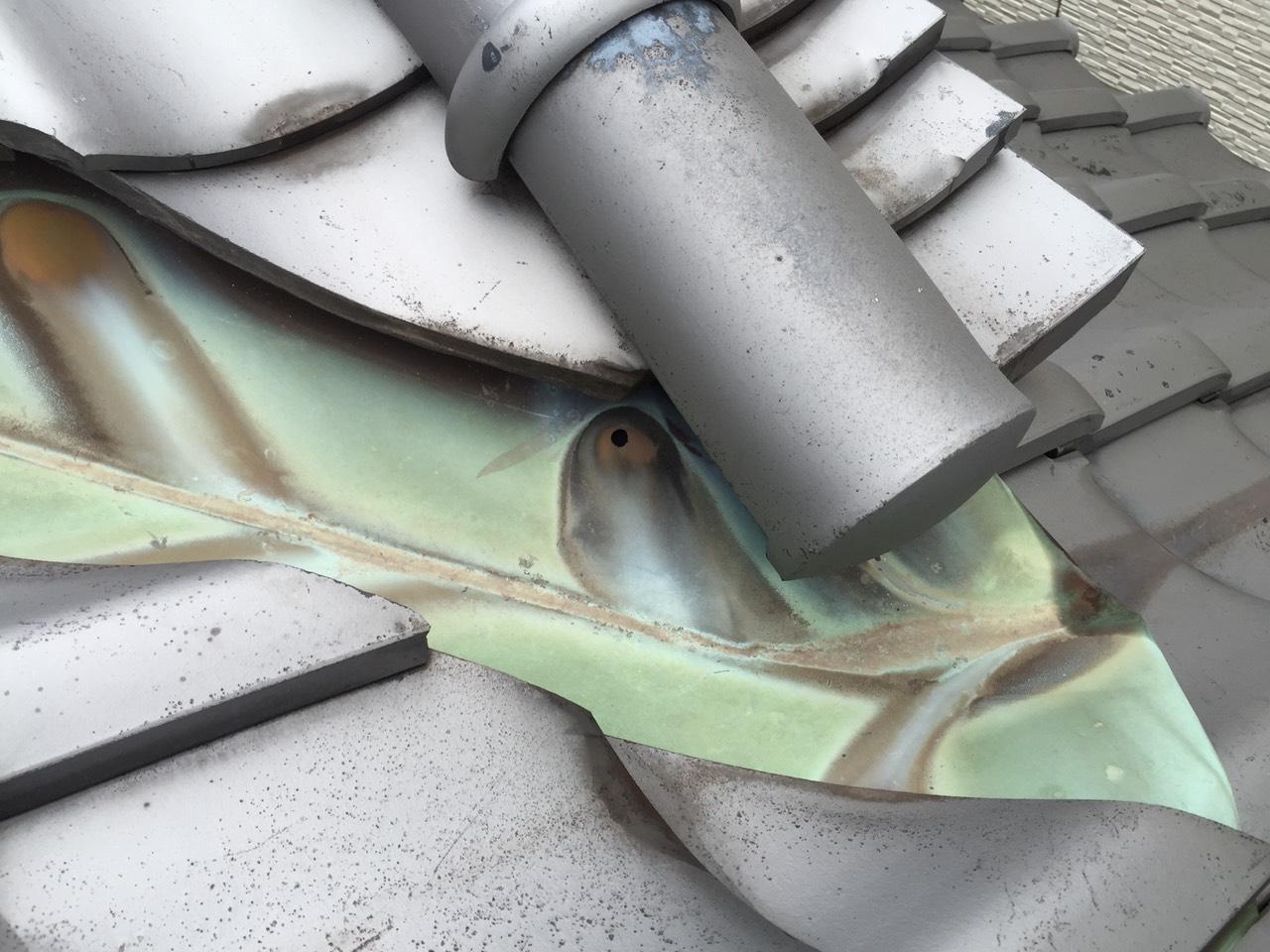 早島町雨漏り補修工事 施工前の写真②