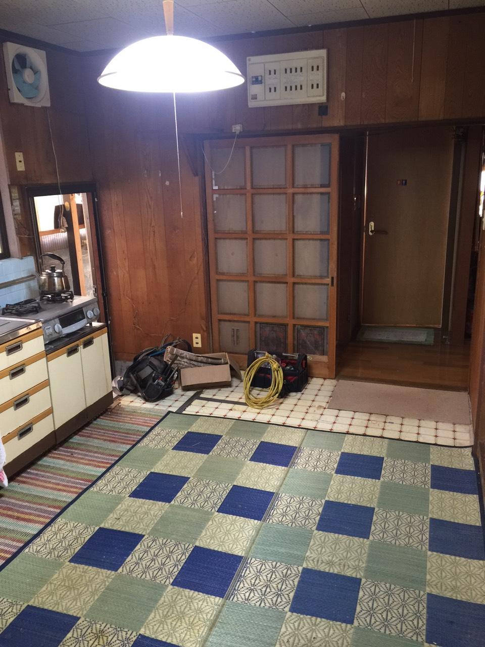 早島町キッチン工事 施工前の写真③