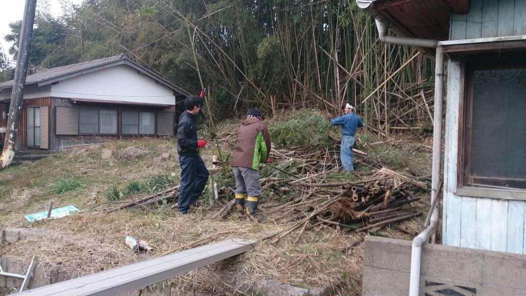 早島町新築工事 竹の伐採の写真②