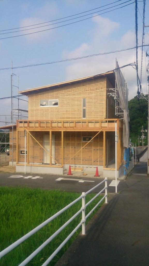 早島町新築工事 工事中の写真①