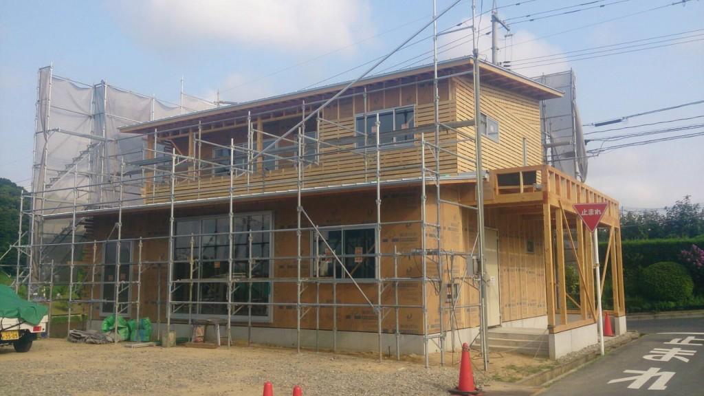 早島町新築工事 工事中の写真②