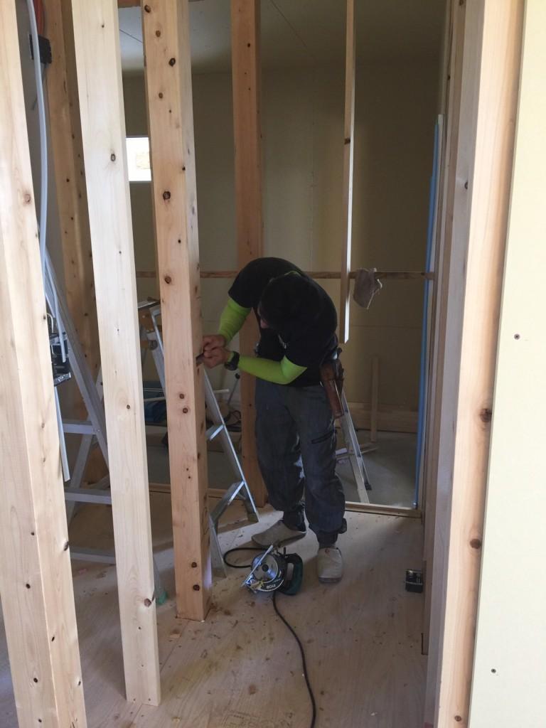 早島町新築工事 階段工事の写真