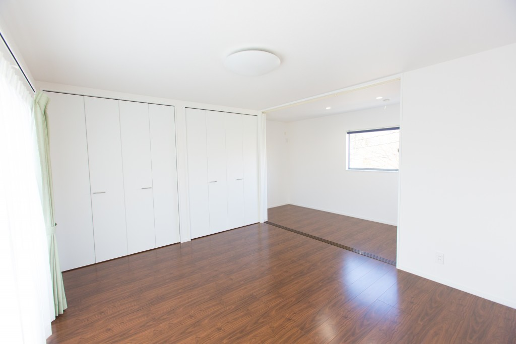 早島町新築工事 寝室の写真