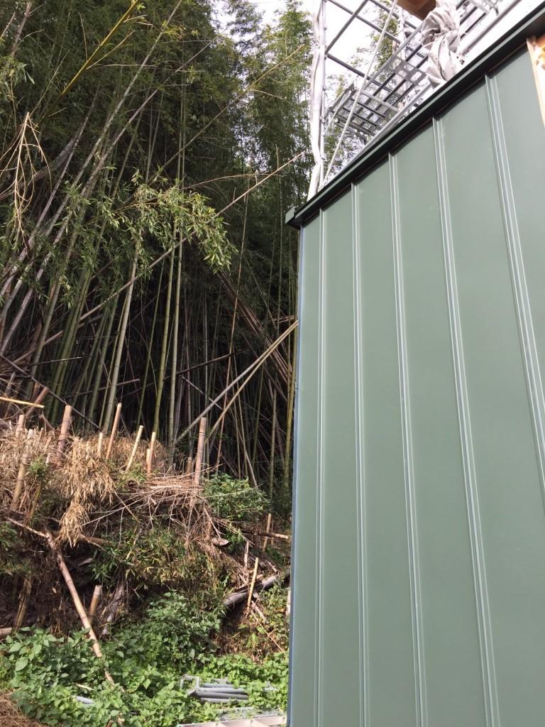 早島町新築工事 外壁の写真②