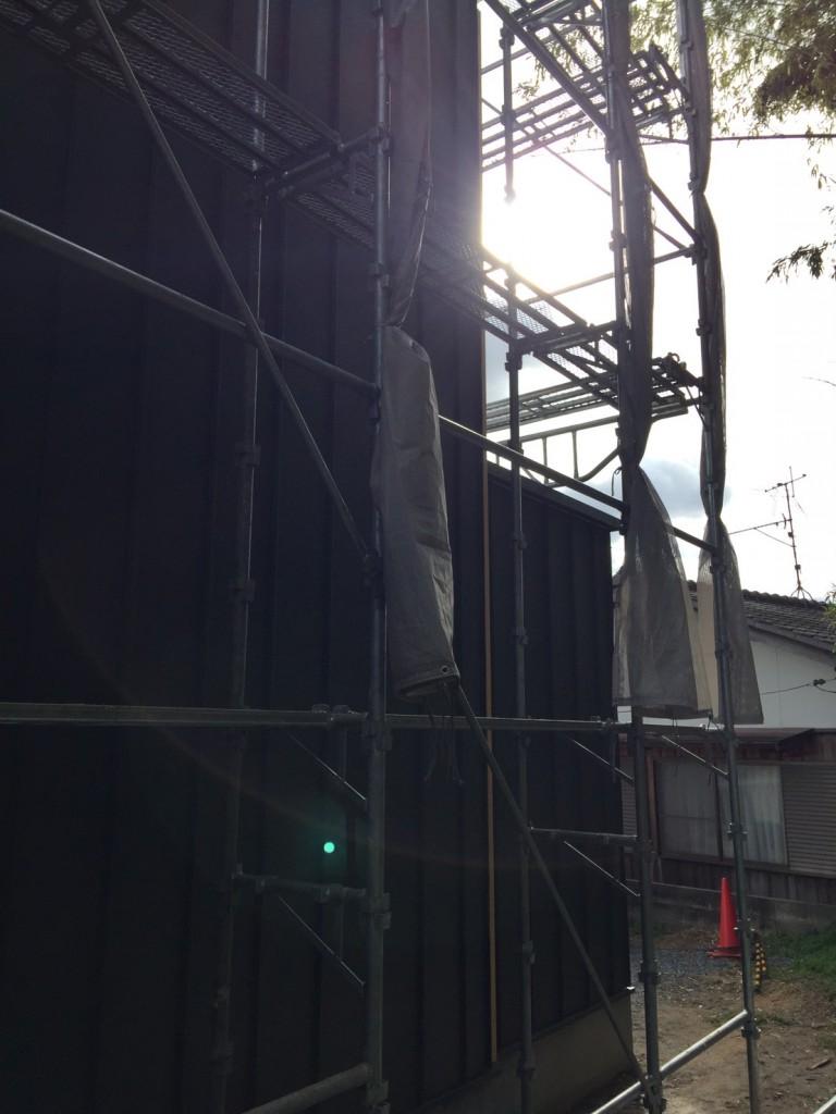 早島町新築工事 外壁の写真③