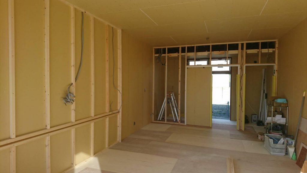 早島町新築工事 工事中の写真
