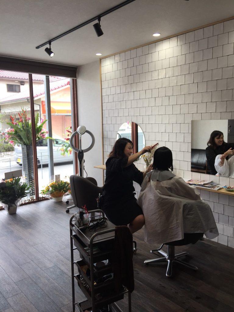 美容室hair life Resia オープンの様子②