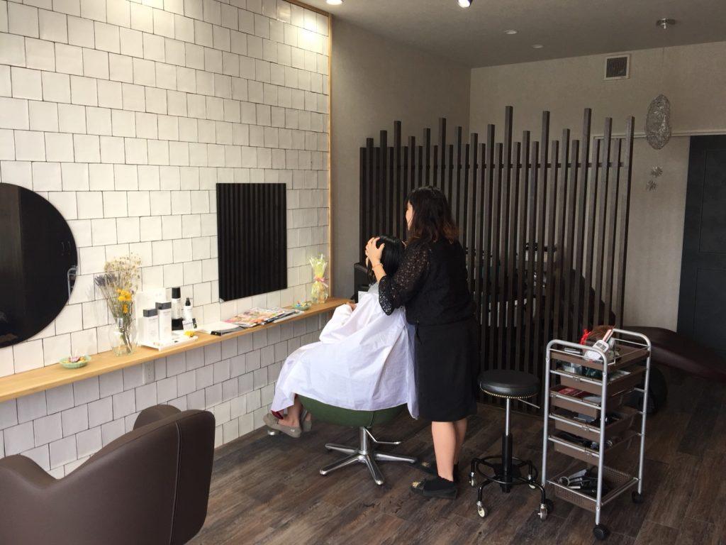 美容室hair life Resia オープンの様子①