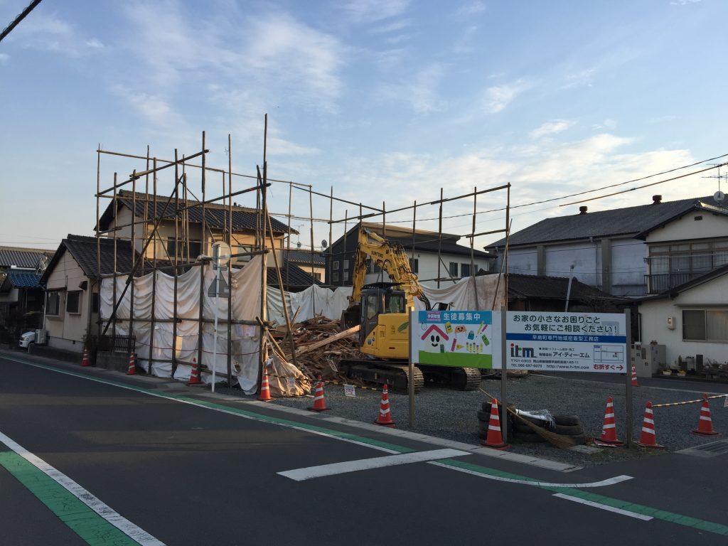 早島町店舗工事 解体中の写真②