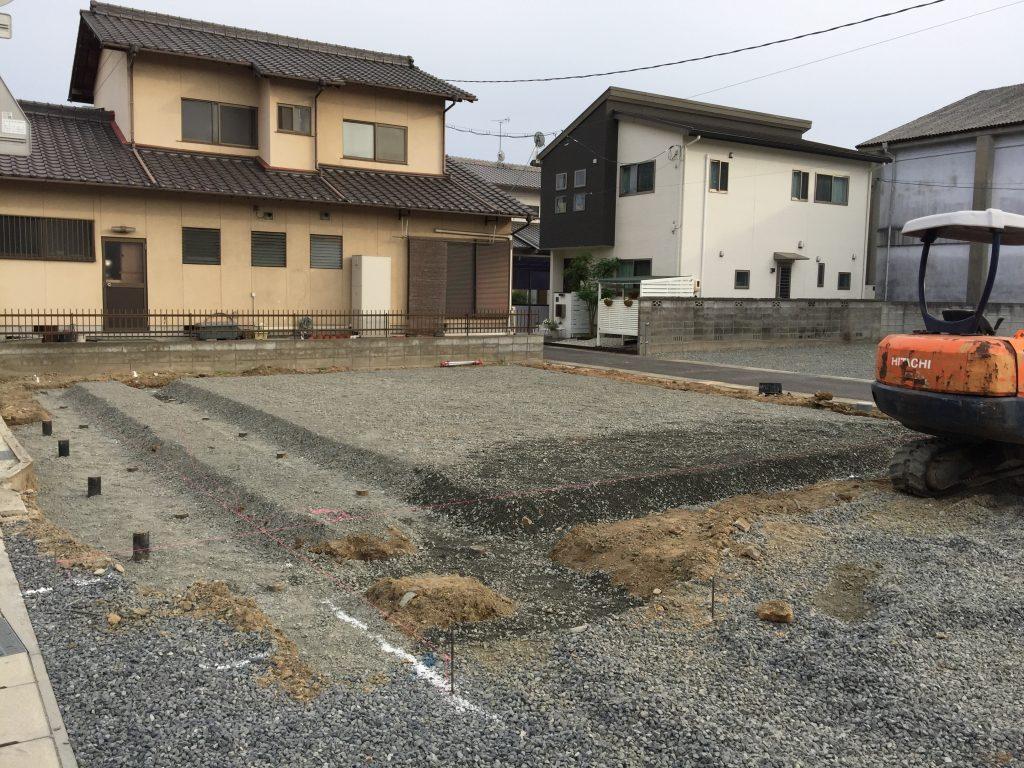 早島町店舗工事 基礎工事の写真①