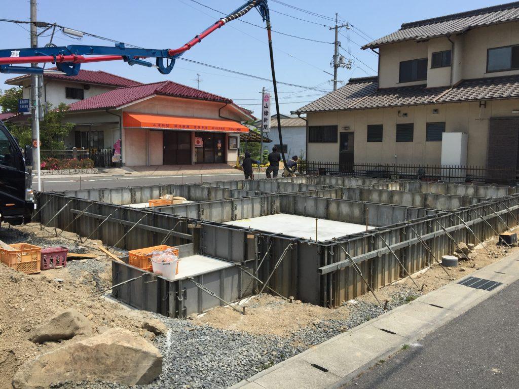 早島町店舗工事 基礎工事の写真③