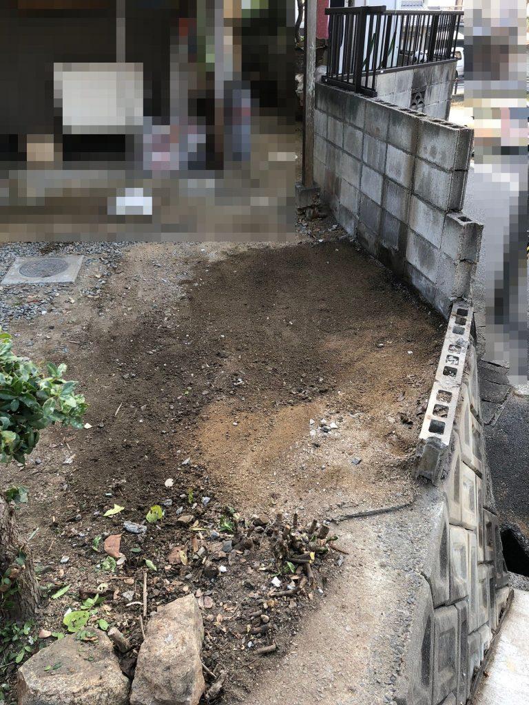 早島町ブロック・フェンス工事①